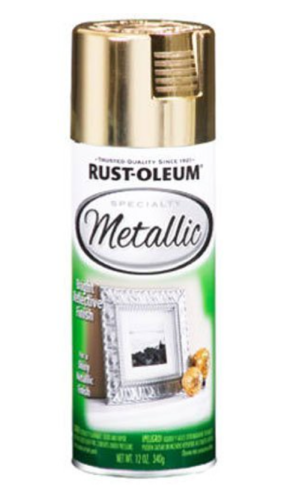 Rust-Oleum: Gold Metallic from Amazon $3.95